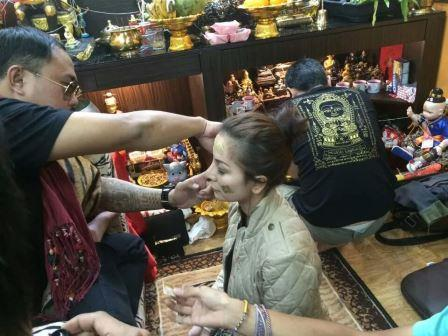 Ajahn Thep blessing at Siam Amulets