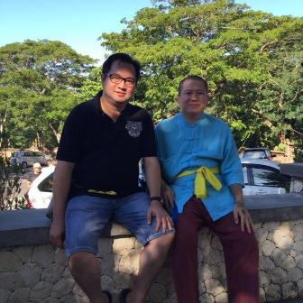 Ajahn Subin with Anthony Tang in Bali