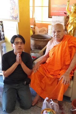 Luang Phor Nuam with Abby Siam Amulets