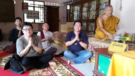 Luang Phor Phrom with Anthony Tang