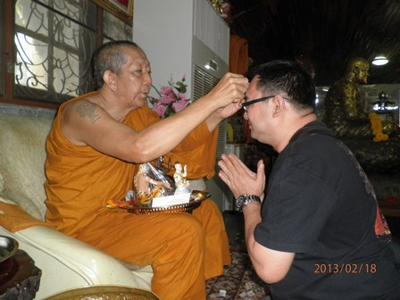 Luang Phor Samang with Anthony Siam
