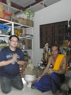 Anthony Tang with Ajahn Kom